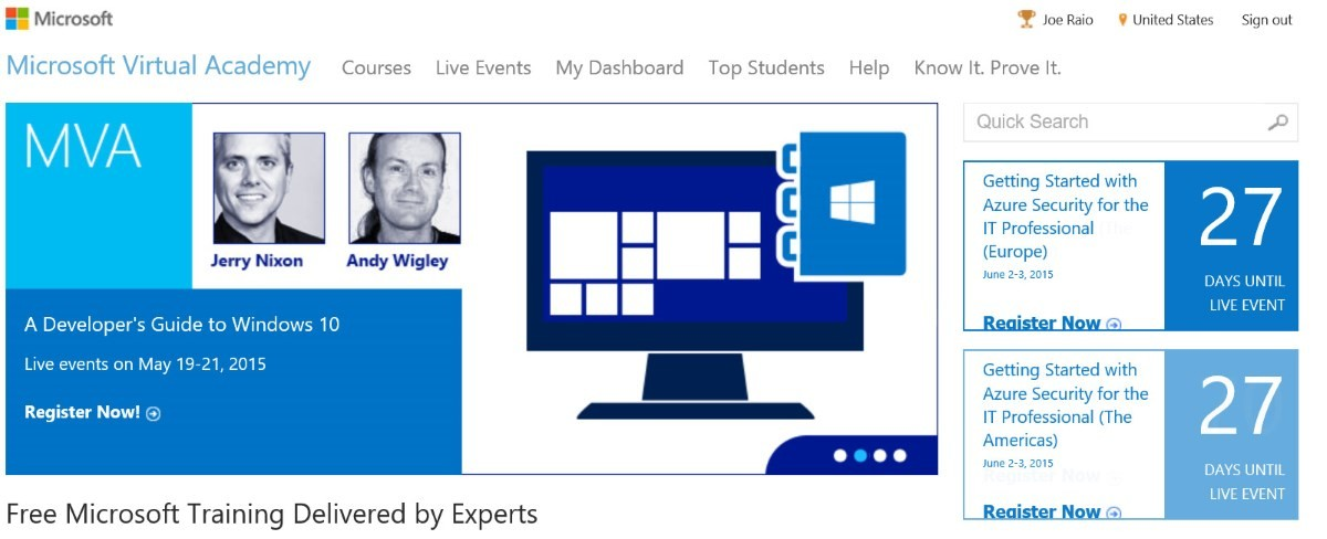 Microsoft Virtual Academy May 2015 Preview